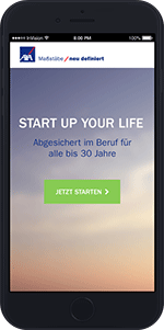 "Screen des Tools ""Start up your life"" 
