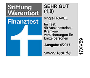 Siegel ARD Single Travel von AXA